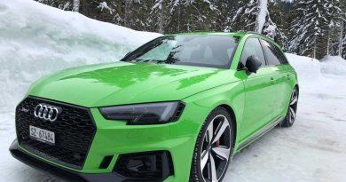 Audi promove experiência de condução no gelo no norte da Suécia